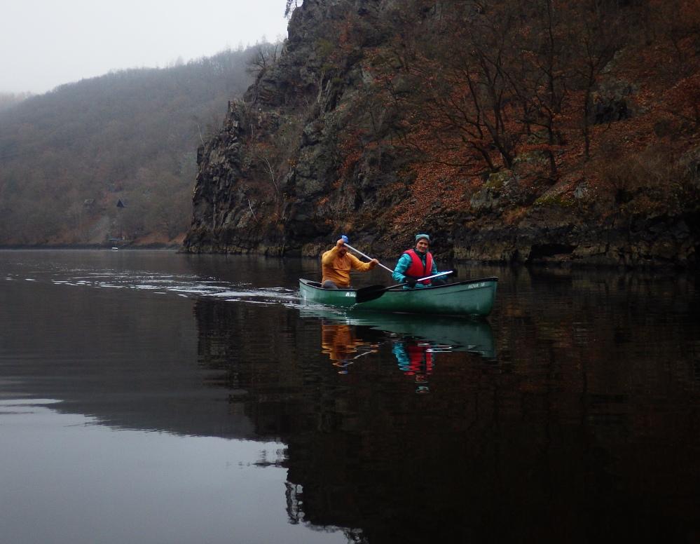 Štěchovická přehrada Třebenice, Pádlování, Svatojánské proudy, kanoe, vodáci