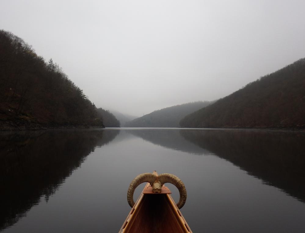 Štěchovická přehrada, kanoe, Svatojánské proudy, vodáci, pádlování