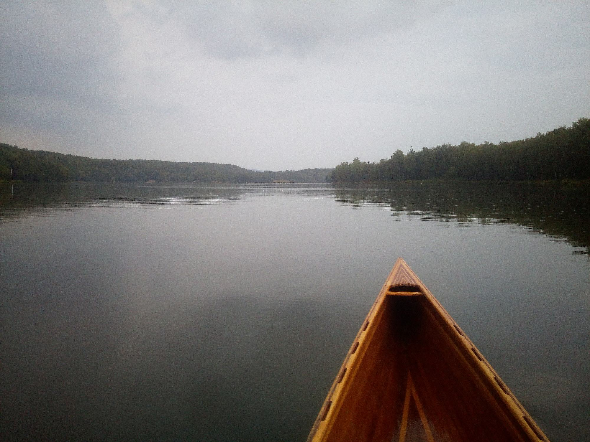 Ejpovické jezero kanoe
