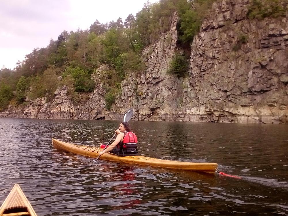 Orlík zvíkov kajak kanoe pádlování