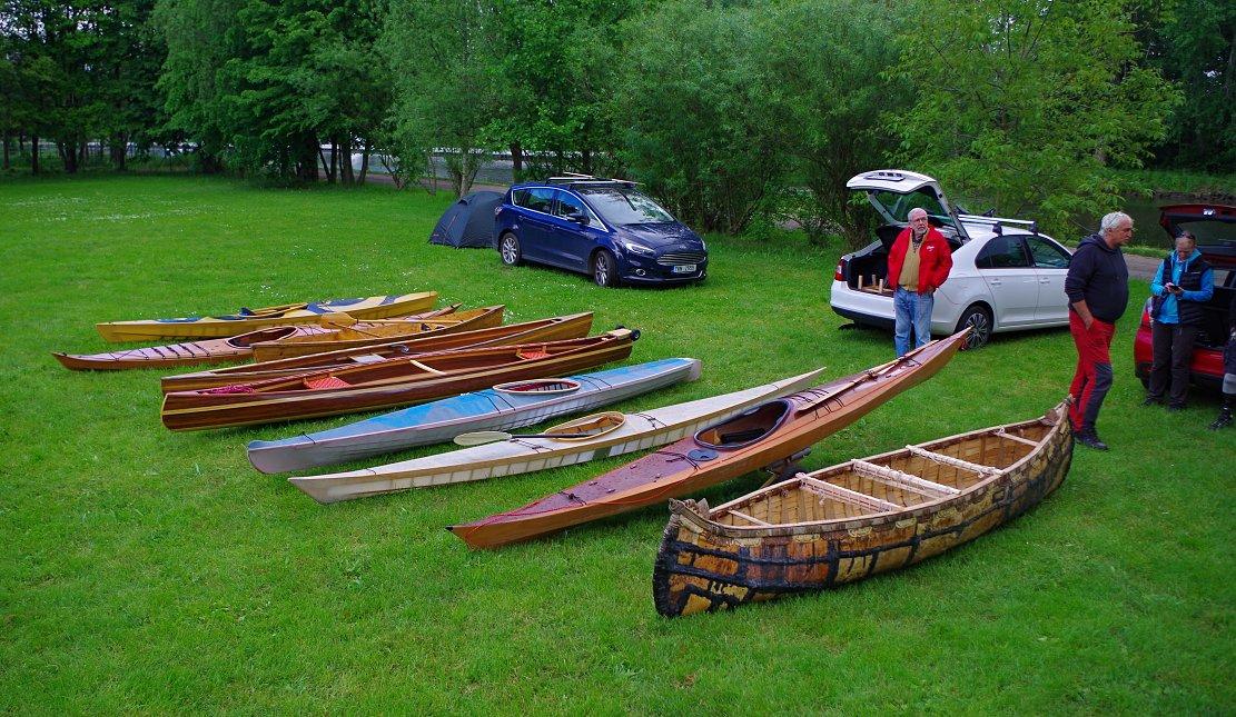 Dřevěné kanoe kajaky