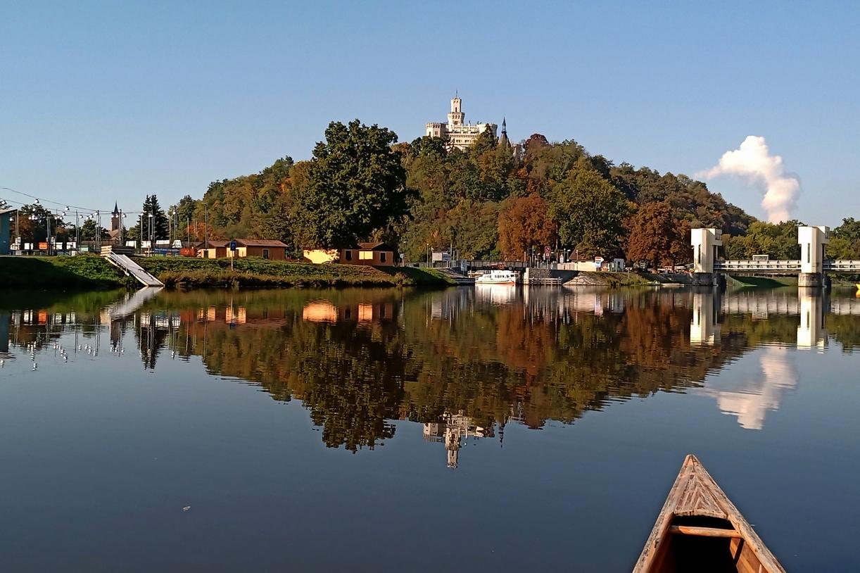 Vltava Krumlov Budějovice Týn Hněvkovice
